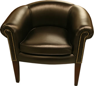 black leather tub chair the classic tub chesterfield collection a1 furniture 11259 | Classic Chesterfield Tub Chair