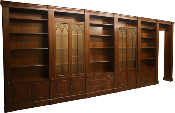 Fine quality yew and mahogany reproduction contract for Replica furniture uk