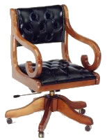 Fine Quality Yew And Mahogany Reproduction Desk Chairs