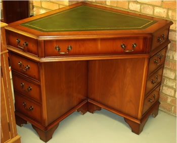 Yew And Mahogany Reproduction Corner Desks A1 Furniture