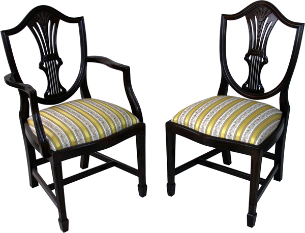 yew dining room furniture | Shield Back Wheatear Reproduction Dining Chairs - A1 Furniture