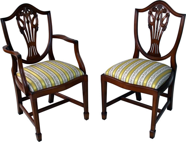 Prince Of Wales Reproduction Dining Chairs A1 Furniture