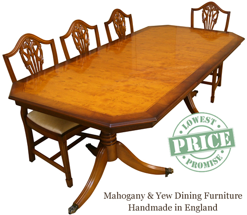 Reproduction Dining Tables In Yew And Mahogany London Enfield Lowest Prices